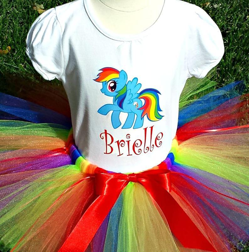 My Little Pony Birthday Outfit Rainbow Dash Tutu Set  3rd