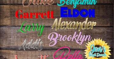 Name Decal Name Vinyl Decal Name Sticker Vinyl Decal Word