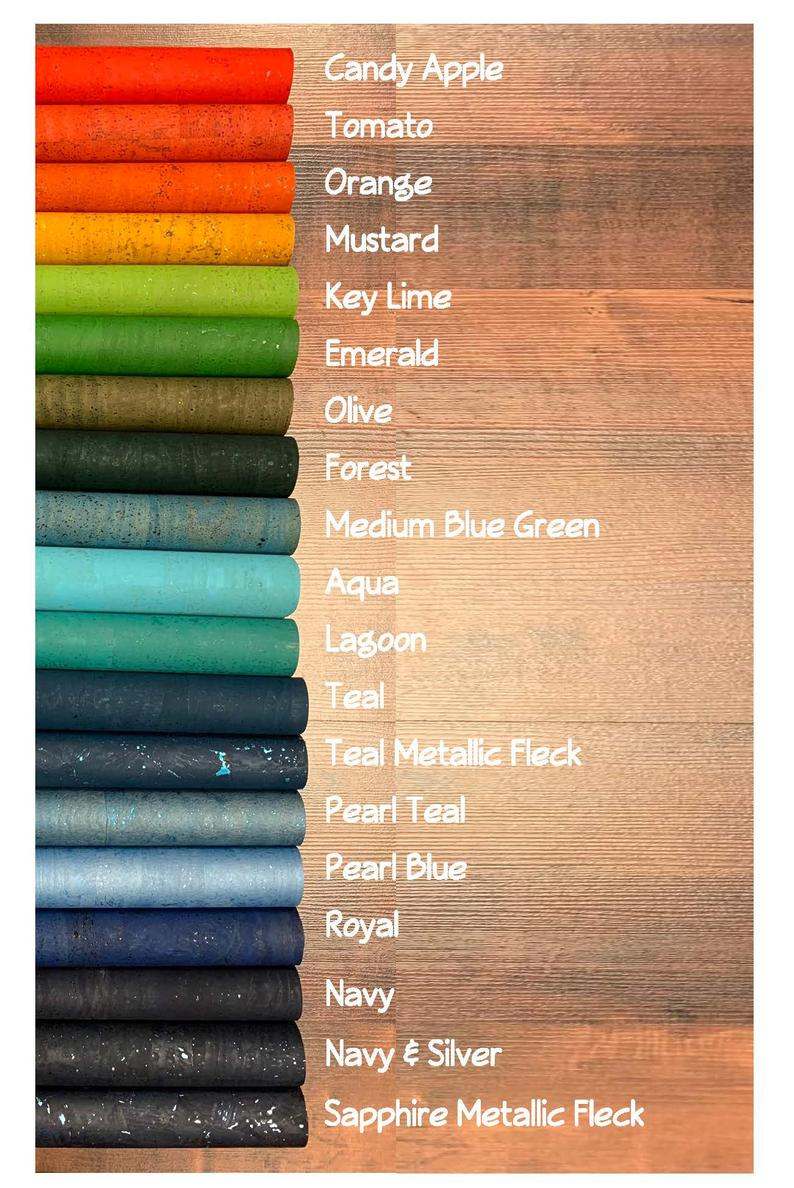 Natural Cork Fabric  Many Colors Available