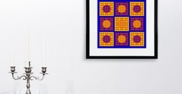 No Cross II. Dots Array – Primary, Fine Art Print by Anitanh