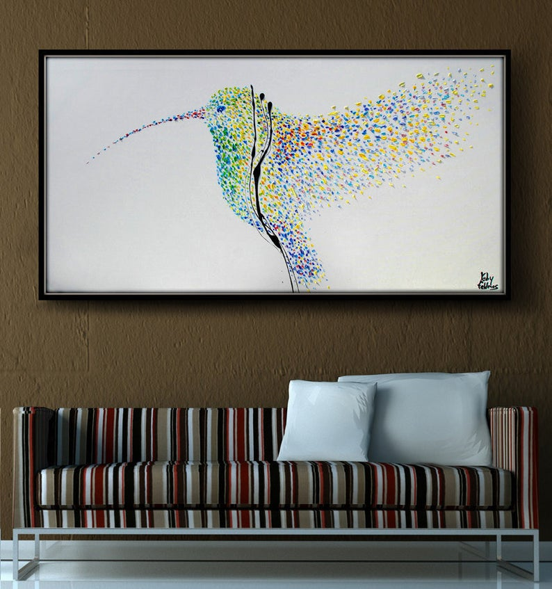 Painting Humming Bird 55 Original oil painting on