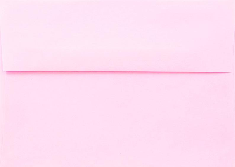 Pastel Pink 50 Boxed Envelopes for Invitations Announcement
