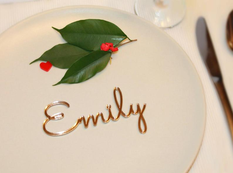 Personalized place cards Place name settings Guest names