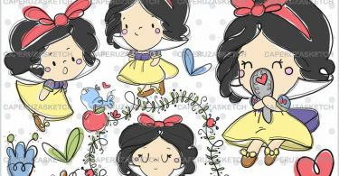 Princess Clip Art COMMERCIAL USE Lamp Clipart Princesses