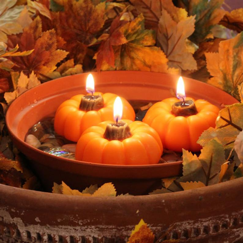 Pumpkins Box of 4 Floating Candles