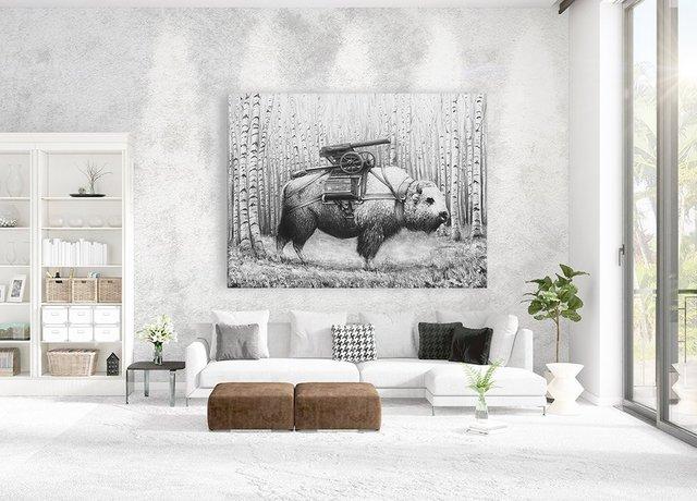 Rakuhnz, Eyes on Walls Giant Canvas Print by Ruben Carrasco, 72×54