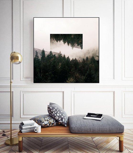 """Reflected Landscape I"" Art Block Framed by Giant Art"