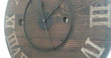 Rustic Wall Clock Clock Spool Clock Wooden Clock Rustic