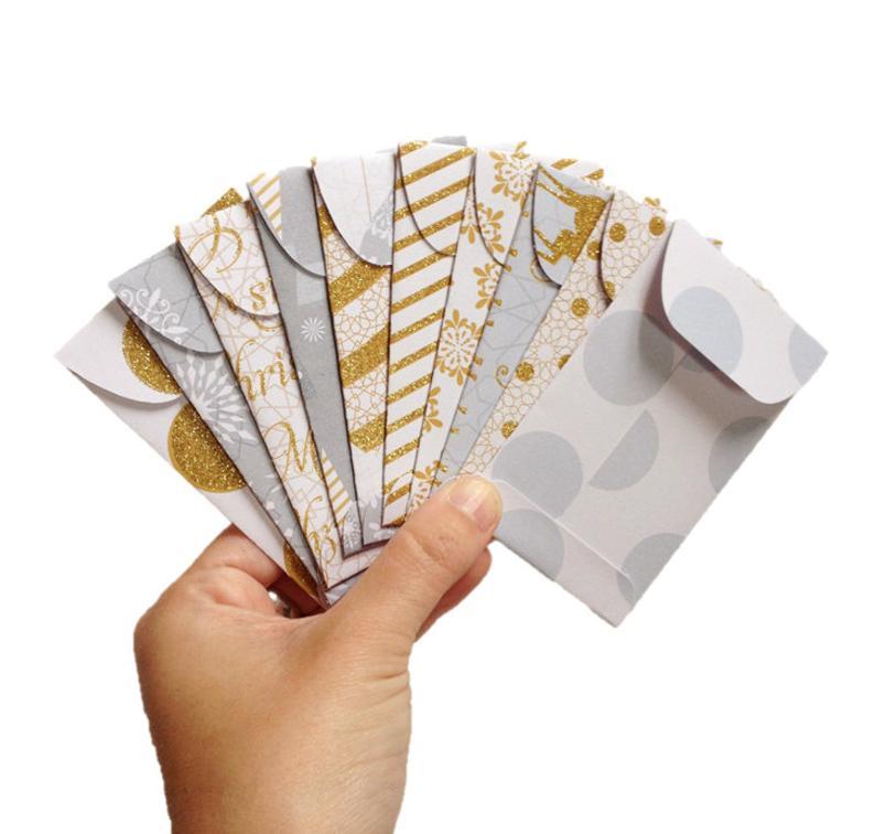 Set of 10 // Gift Card Holders // Christmas Gift Card Holder