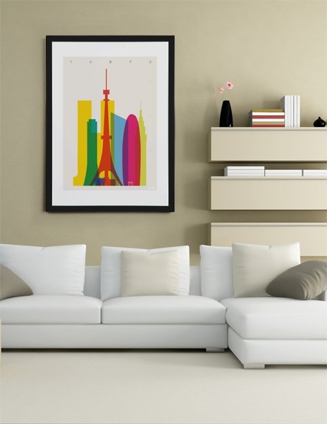 Shapes of Tokyo, Fine Art Print by Yoni Alter