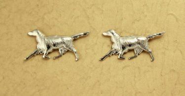 Silver Dog Magnetic Earrings