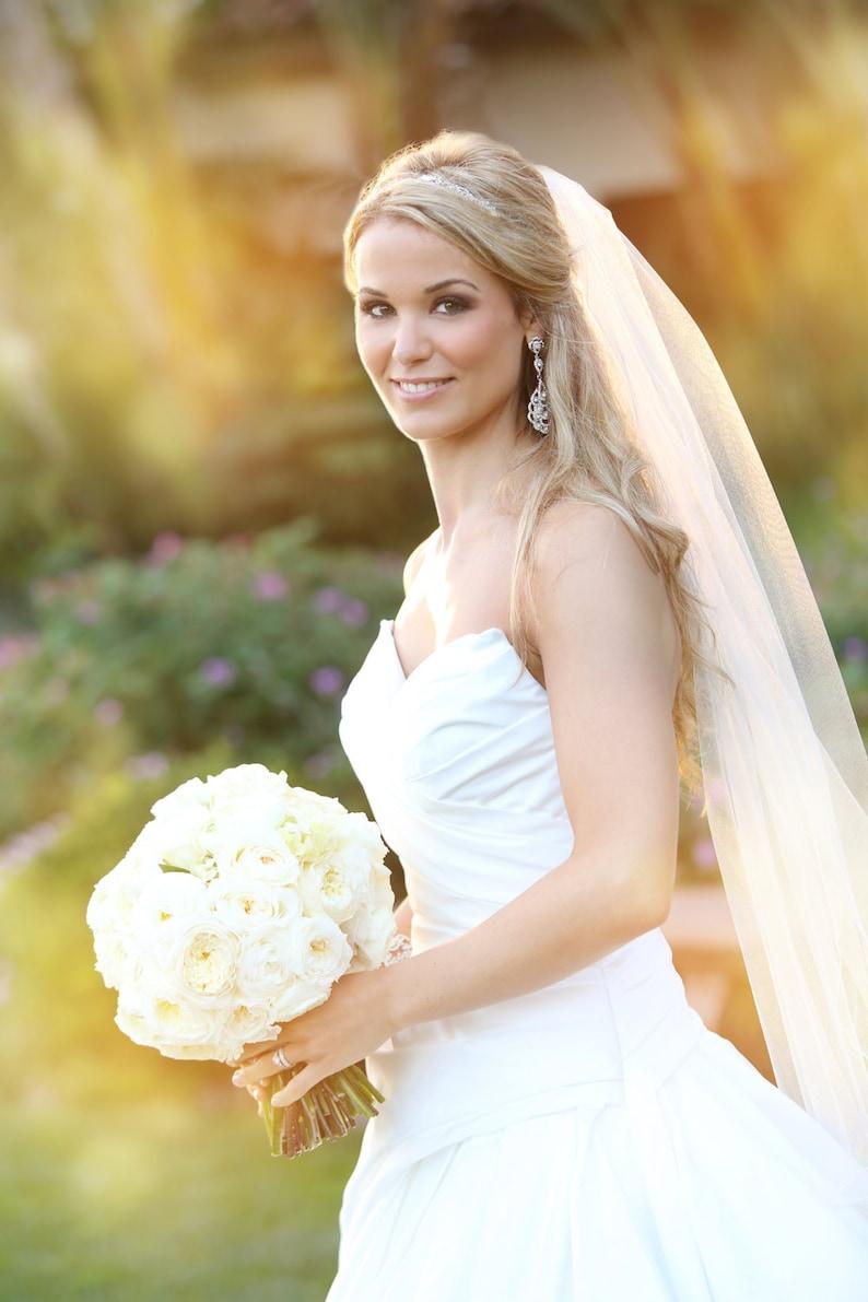 Soft Wedding Veil  Full Volume