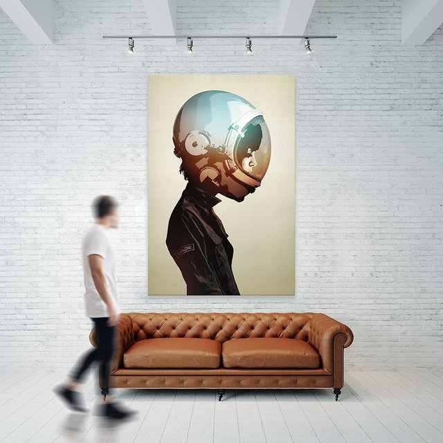 Space Cadet Giant Canvas Print