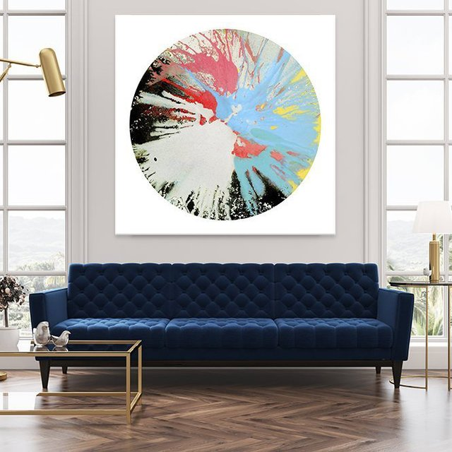 Spin Art 10 Giant Canvas Print by Kyle Goderwis