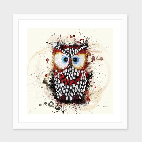The Owl Print by Marcelo Simioni