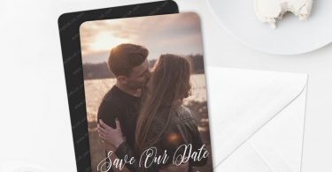 Together Forever  Photo Wedding Save the Date Magnets