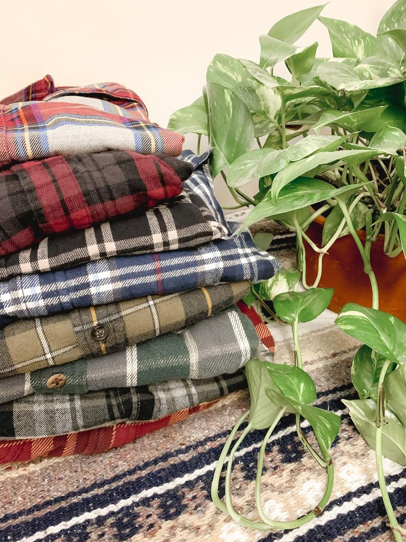 Vintage Flannel  Unisex  Fall and Winter Flannels  Vintage