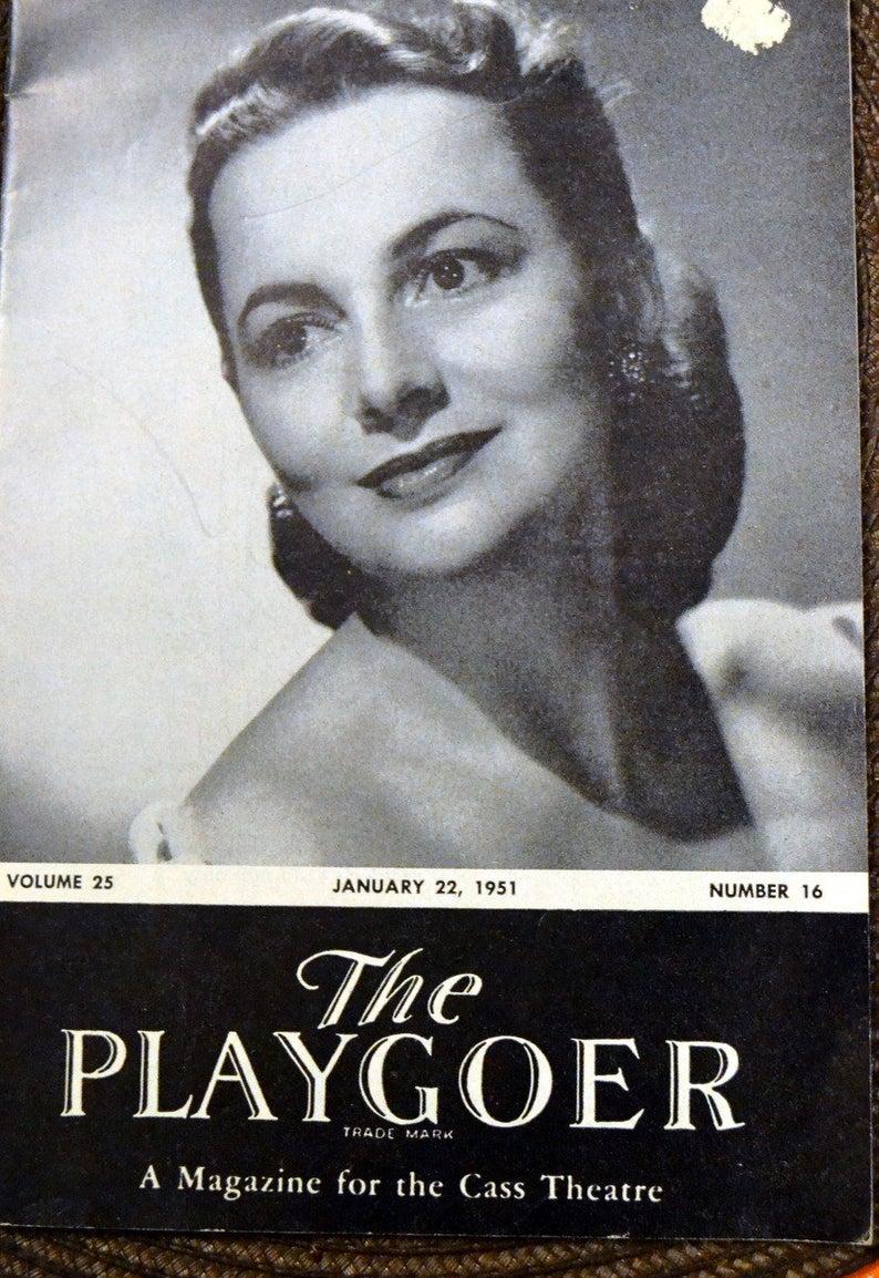 Vintage Playgoer Olivia de Havilland  Romeo and Juliet