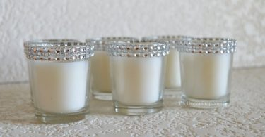 Votive Candles  Silver Bling Wedding Rhinestone Votives