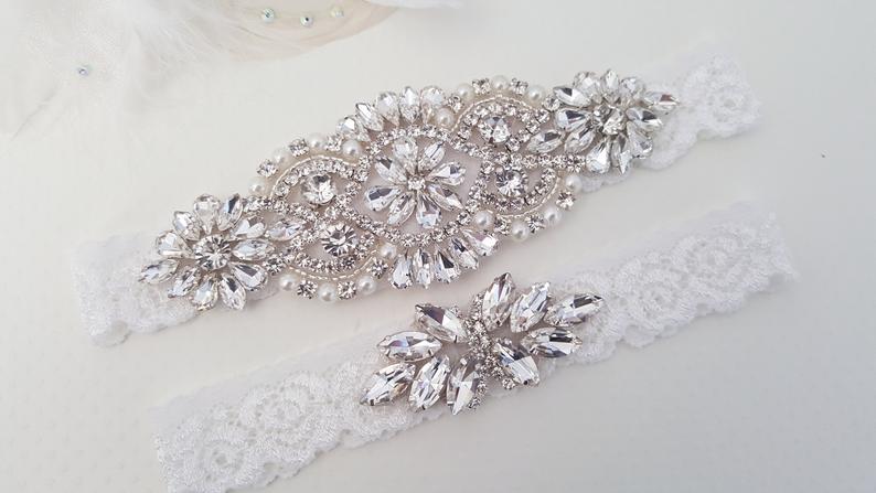 Wedding Garter Bridal Garter Wedding Garter Set Lace Bridal