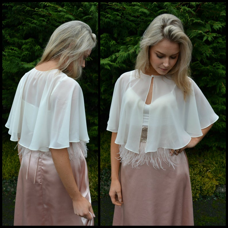 Wedding capelet / cover-up / Sheer capelet / Great for brides