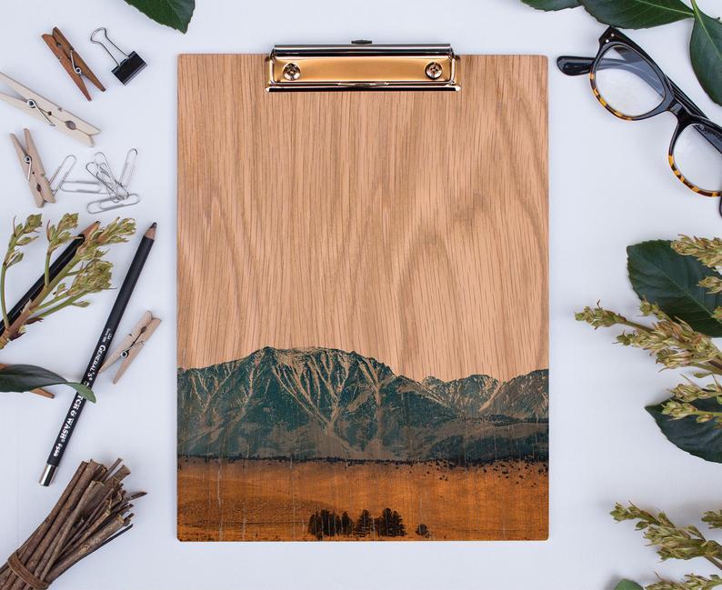 Wood Clipboard Les Sierras No 5631 Sierra Nevada California