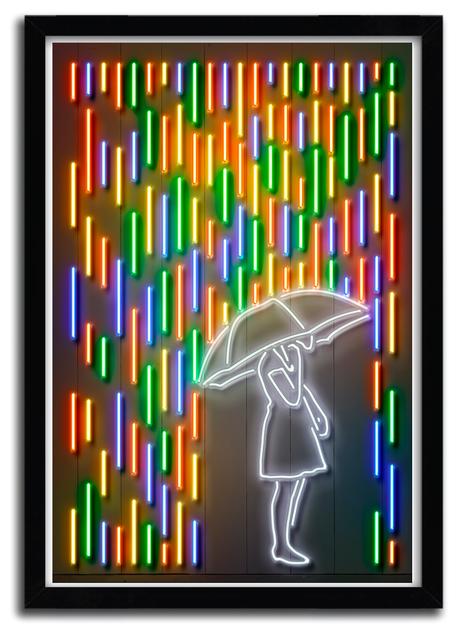 AFFICHE rain girl by Octavian Mielu