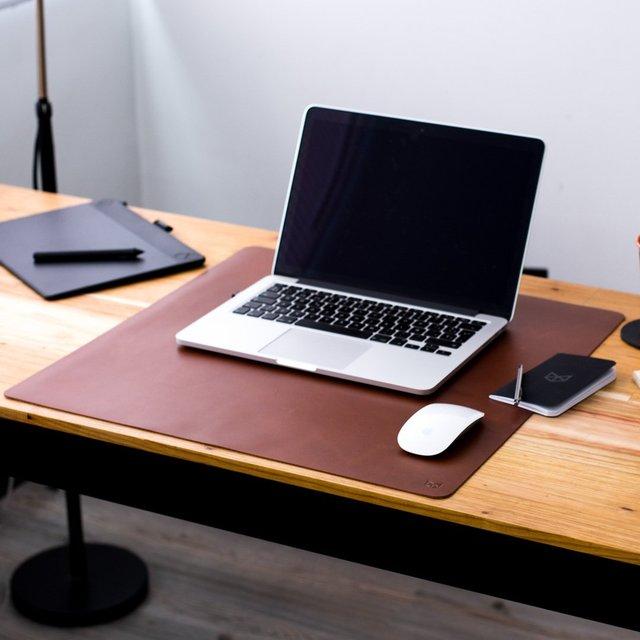 Acorn Leather Desk Pad