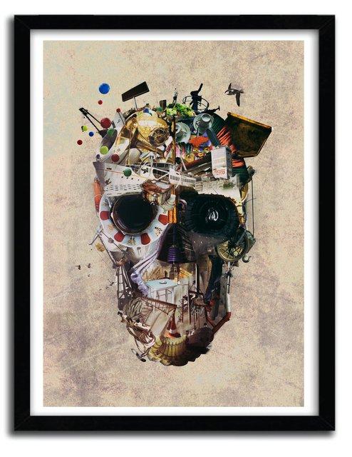 Affiche istambul skull by Ali Gulec