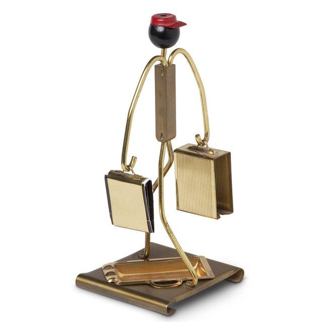 Art Deco Red Cap Porter Smoking Companion