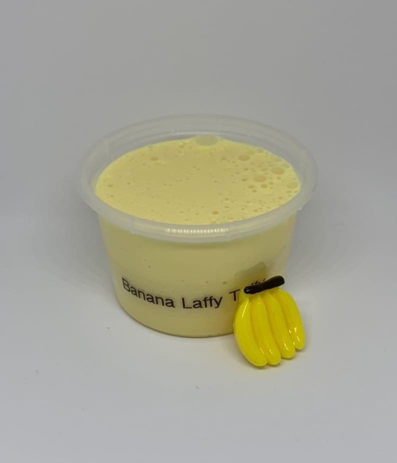 Banana laffy taffy thick and glossy slime SCENTED uk seller