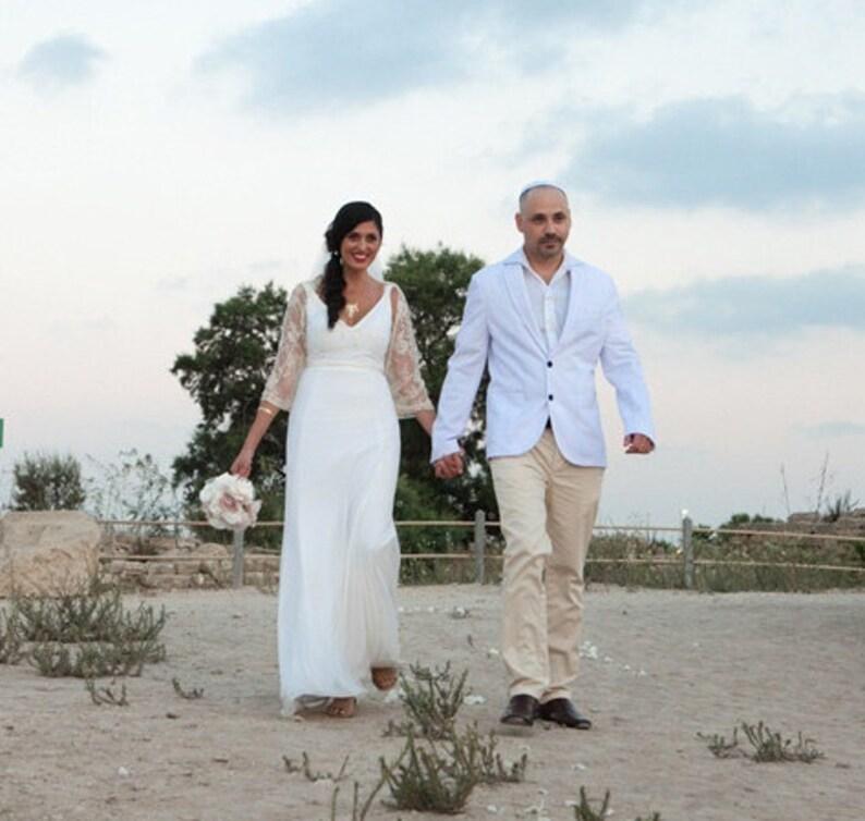 Beige Bridal Bolero Lace Wedding Shawl/ Shrug With 4 Wearing