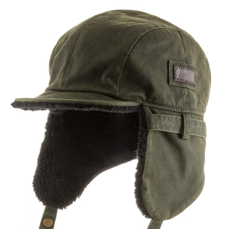 Best Pilot Trooper Aviator Cap Faux Leather Hat Ushanka