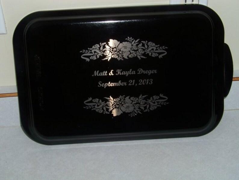 Black  9×13 Personalized Engraved Cake Pan