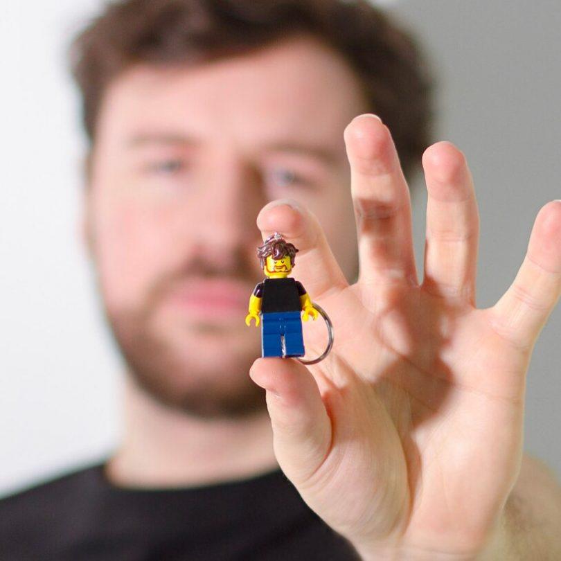 Brick Yourself Keyring – Personalised Mini Figure Keyring