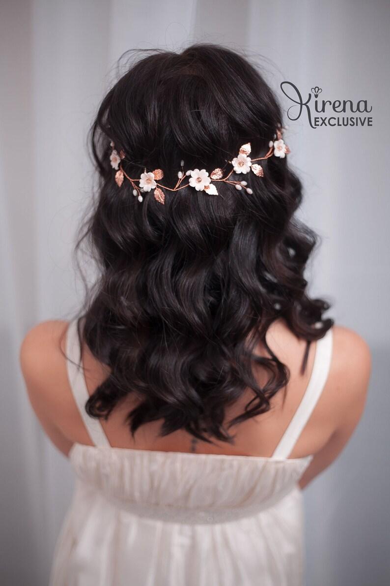 Bride headpieces Bridal headpiece Wedding hair vine Bride hair