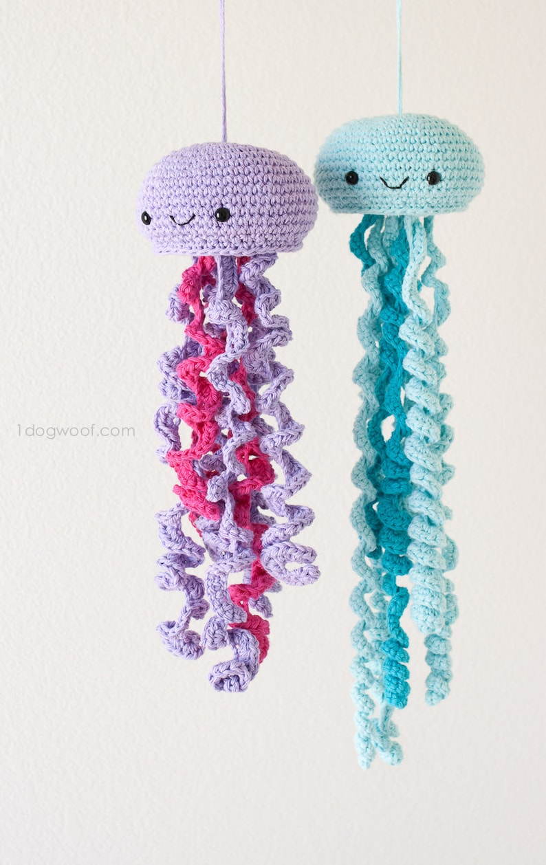 CROCHET PATTERN: Jellyfish Stuffed Toy Amigurumi Hand Towel
