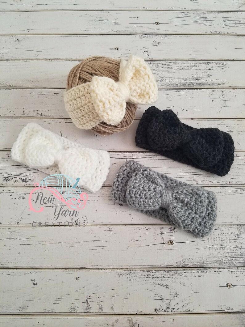 Crochet Bow Ear Warmer Bow Headband Crochet Bow Headwrap