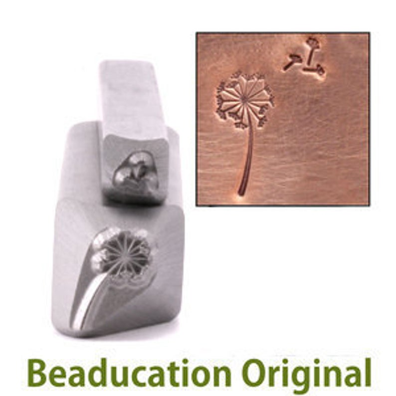 Dandelion & Fluff Metal Design Stamp 11mm  Beaducation Metal