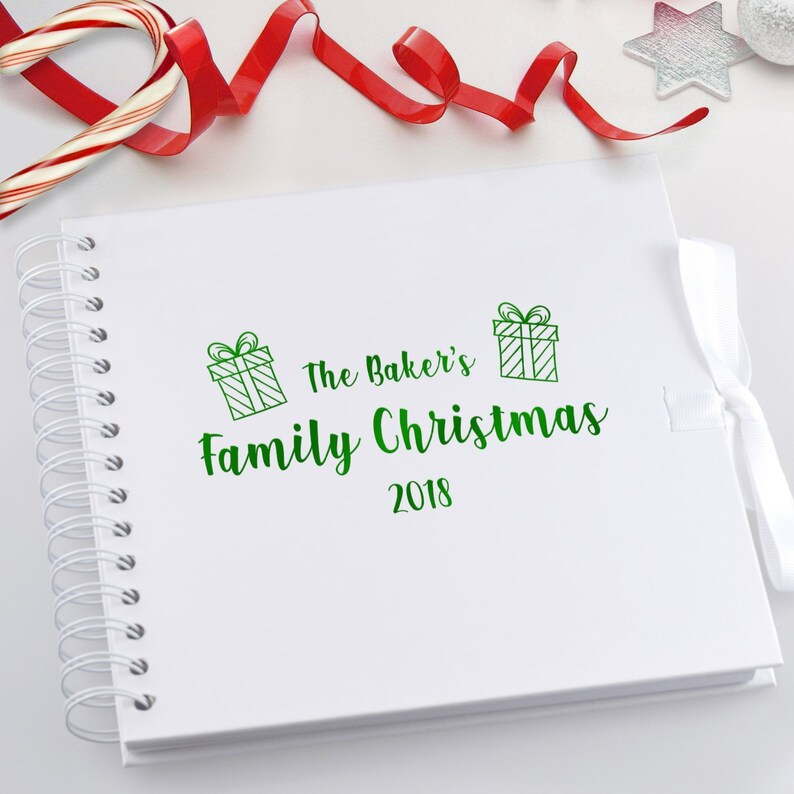 Family Christmas  First Xmas Personalised Scrapbook Photo