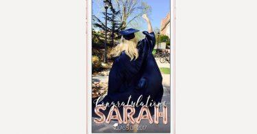 Graduation Geofilter Graduation Snapchat Geofilter Class Of