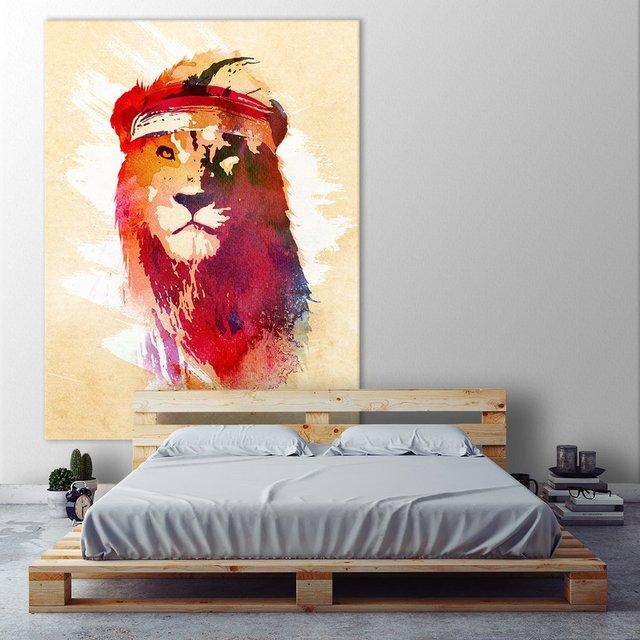 Gym Lion Giant Canvas Print