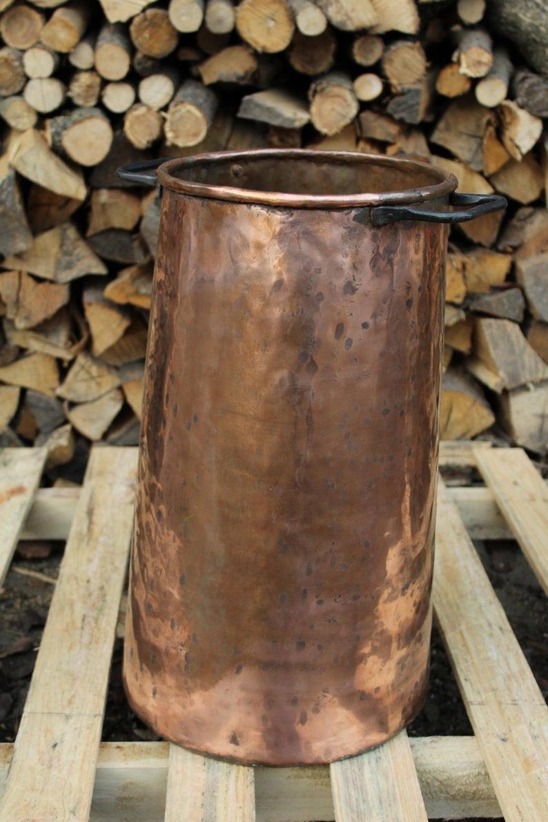 Handmade Copper Umbrella Stand rustic