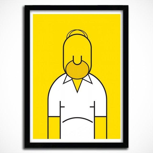 Homer Print by Ale Giorgini