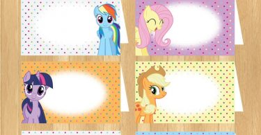 INSTANT DOWNLOAD  EDITABLE My Little Pony Food Tent