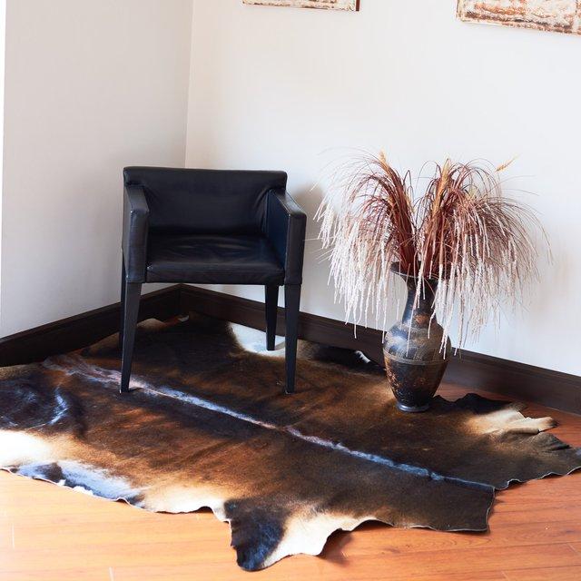 Large Leather Cowhide Rug