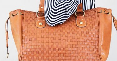 Large leather bag leather tote bag for women with zipper