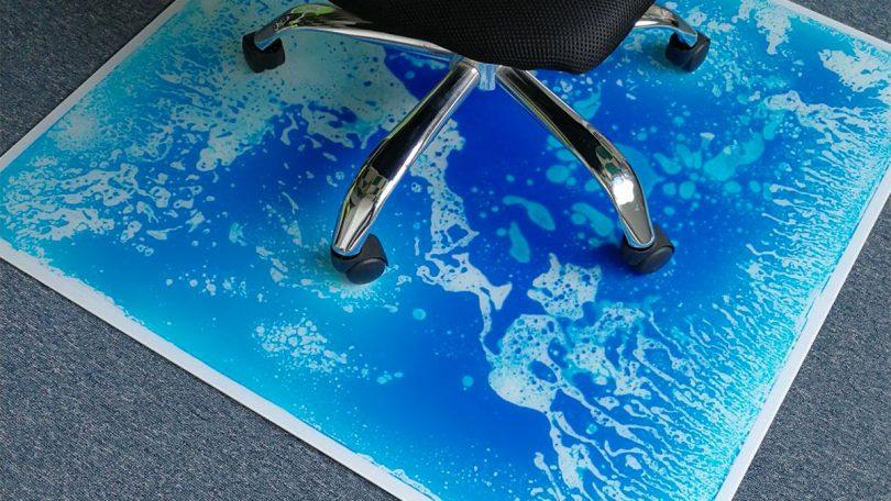 Liquid Encased Office Chair Mat