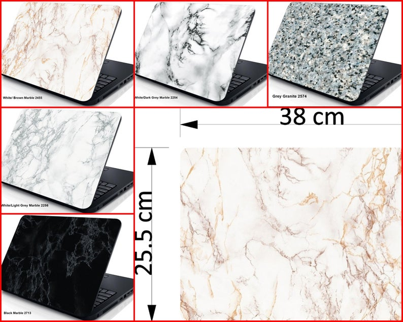 Marble Designs Laptop Skin Cover Sticker Decal Protector