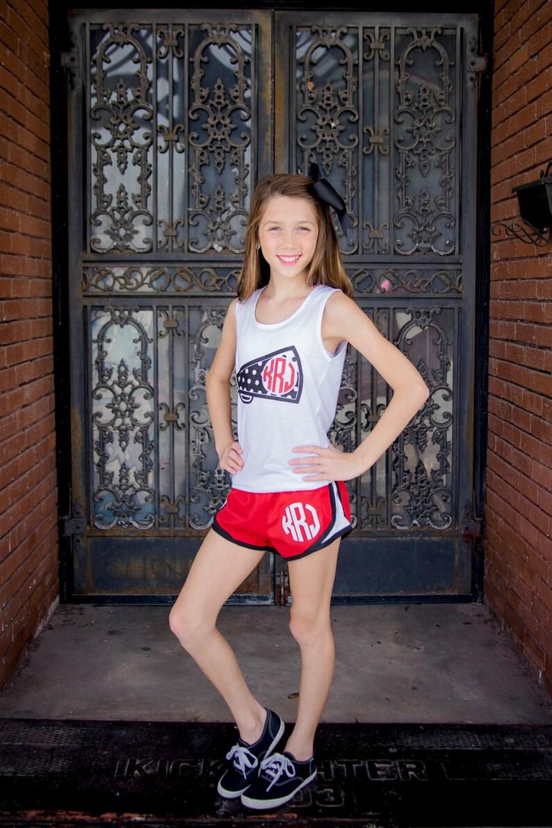 Monogram Running Shorts Athletic Shorts Women Girls